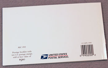 US Postal Service Submarine Stamp Book back