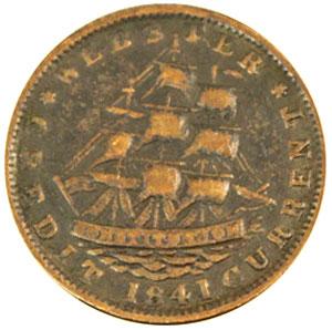 Hard Times Token - HT16 - 1841 Webster Credit Current obverse
