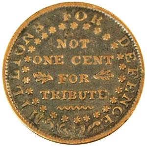 Hard Times Token - HT16 - 1841 Webster Credit Current reverse