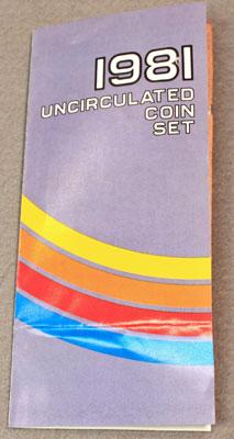 1981 Mint Set Brochure front view