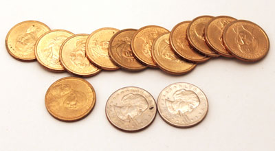 Dollar coins - Presidential, Susan B. Anthony, Sacagawea