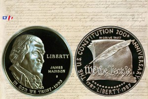 Constitution and Bill of Rights Commemorative Silver Dollar Coins