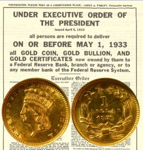 1873 Gold One Dollar Coin with Executive Order 6102