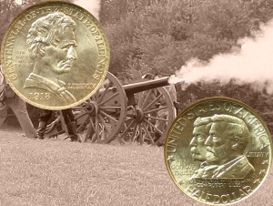 Illinois Centennial and Battle of Antietam Commemorative Half Dollar Coins