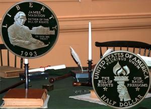 Bill of Rights Commemorative Silver Half Dollar Coin