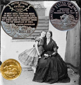 Civil War Commemorative Coins half-dollar, dollar, five-dollar reverse