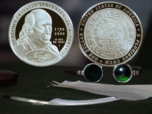 Benjamin Franklin Founding Father Commemorative Silver Dollar