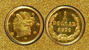 California 25-cent gold coin