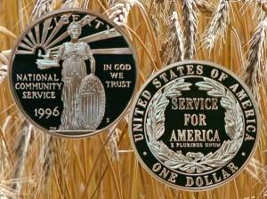 National Community Service Commemorative Silver Dollar