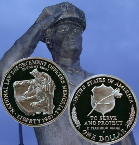 National Law Enforcement Officers Memorial Commemorative Silver Dollar Coin