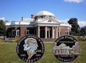 Jefferson Commemorative Silver Dollar Coin