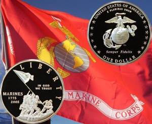 Marine Corps Commemorative Silver Dollar Coin