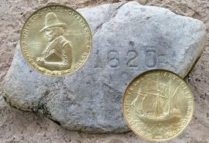 Pilgrim Tercentenary Silver Half Dollar Coin
