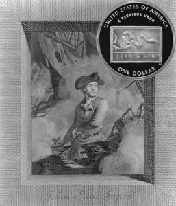 Franklin Scientist Commemorative Silver Dollar Coin