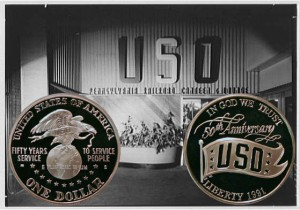 USO Commemorative Silver Dollar Coin