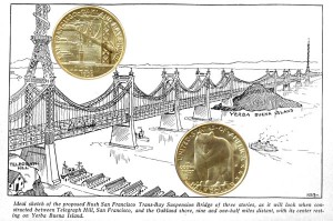 San Francisco Oakland Bay Bridge Commemorative Silver Half Dollar Coin