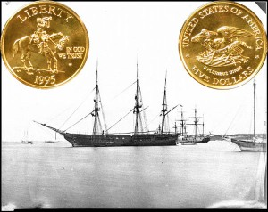 Civil War Commemorative Gold Five Dollar Coin