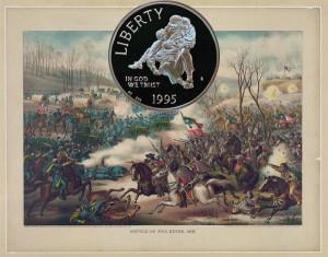 Civil War Commemorative Silver Dollar Coin