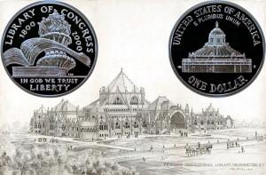 Library of Congress Commemorative Silver Dollar Coin