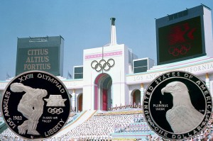 1983 Los Angeles Olympics Commemorative Silver Dollar Coin