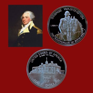George Washington Commemorative Silver Half Dollar Coin
