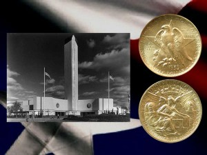 Texas Centennial Commemorative Silver Half Dollar Coin