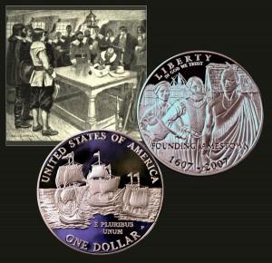 Jamestown Commemorative Silver Dollar Coin