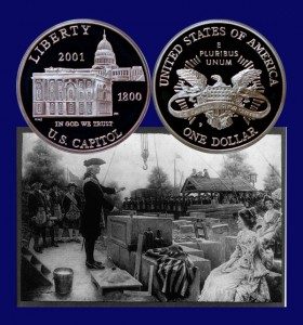 Capitol Visitors Center Commemorative Silver Dollar Coin