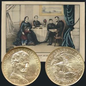 Illinois Centennial Commemorative Silver Half Dollar Coin