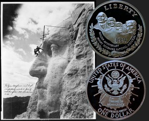 Mount Rushmore Commemorative Silver Dollar Coin