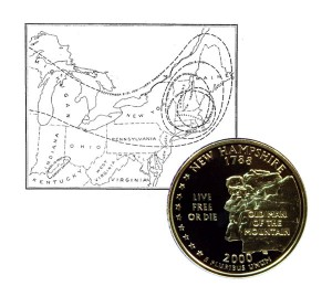 New Hampshire State Quarter Coin
