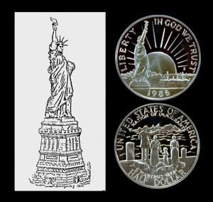 Statue of Liberty Commemorative Half Dollar Coin