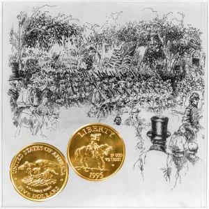 Civil War Commemorative Gold Five Dollar Coin