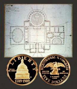 Congress Commemorative Gold Five Dollar Coin