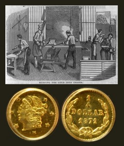 California Gold Quarter Dollar Coin