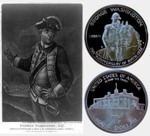 George Washington Commemorative Silver Half Dollar Coin