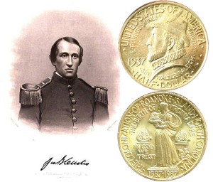 Roanoke Island Commemorative Silver Half Dollar Coin