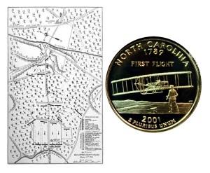 North Carolina State Quarter Coin