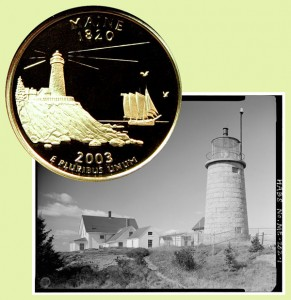 Maine State Quarter Coin