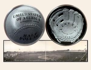 Baseball Commemorative Half Dollar Coin