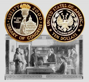 Library of Congress Commemorative Bi-metallic Ten-Dollar Coin
