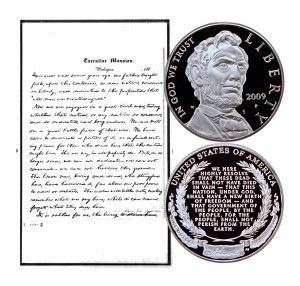 Lincoln Commemorative Silver Dollar Coin