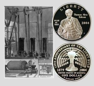 Edison Commemorative Silver Dollar Coin