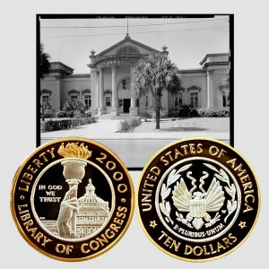 Library of Congress Bi-Metallic Ten-Dollar Coin