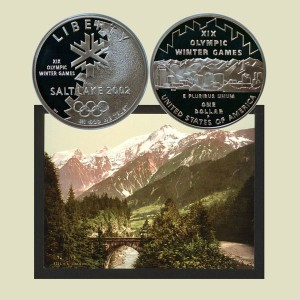 Salt Lake City Olympic Games Commemorative Silver Dollar Coin