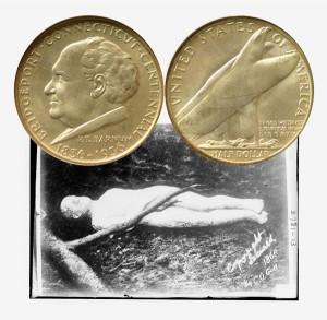 Bridgeport Connecticut Commemorative Silver Half Dollar Coin
