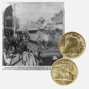 San Francisco Oakland Bay Bridge Commemorative Silver Half Dollar Coin
