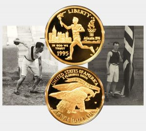 Atlanta Olympics Commemorative Torch Runner Five-Dollar Gold Coin