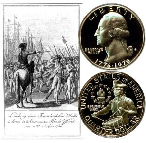 Washington Bicentennial Quarter Coin