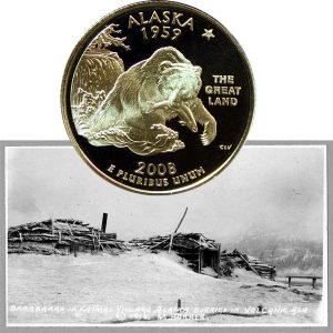 Alaska State Quarter Coin